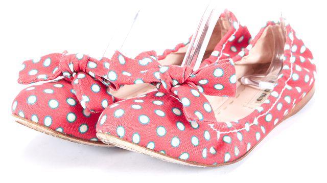 MIU MIU Red Polka Dot Ballerina Flats Size US 9.5 EUR 41