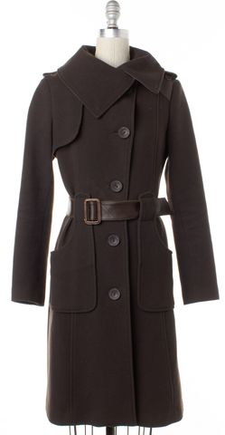 MACKAGE Brown Wool Trench Coat Size XS