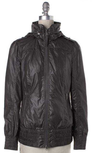MACKAGE Gray Zip Up Hooded Jacket