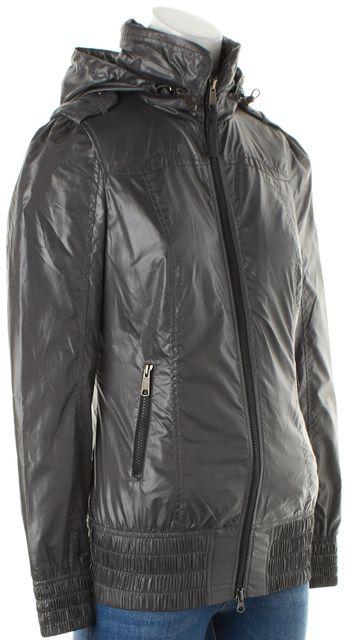 MACKAGE Cathedral Gray Hooded Zip-Up Windbreaker Jacket