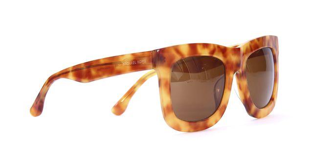 MICHAEL KORS Brown Tortoise Oversize Square Frame Gradient Lens Sunglasses