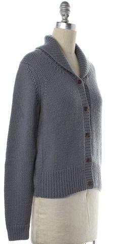 MICHAEL KORS Gray Shawl Collar Cardigan Fits like a S