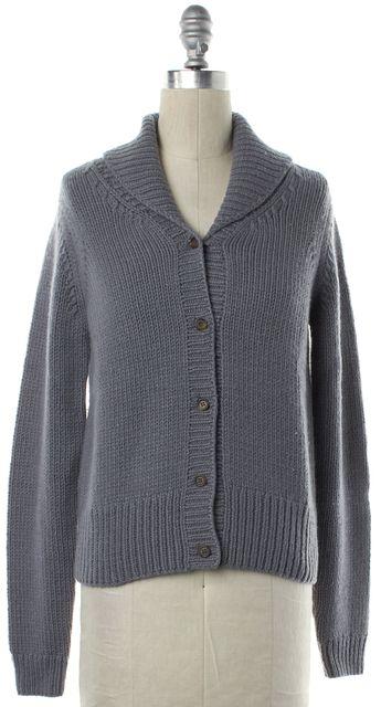 MICHAEL KORS COLLECTION MICHAEL KORS Gray Shawl Collar Cardigan Fits like a S