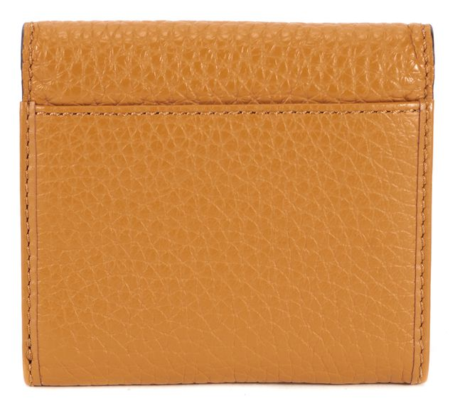 MICHAEL KORS COLLECTION MICHAEL KORS Brown Pebbled Leather Trifold Wallet