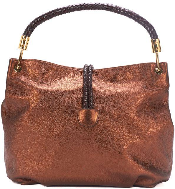 MICHAEL KORS COLLECTION MICHAEL KORS Bronze Pebbled Leather Crescent Hobo Bag