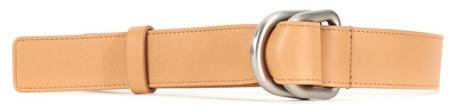 MICHAEL KORS COLLECTION Beige Leather Silver Hardware Belt