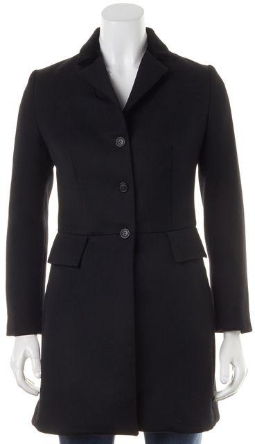 MICHAEL KORS COLLECTION Black Wool Velvet Collar Button Up Jacket