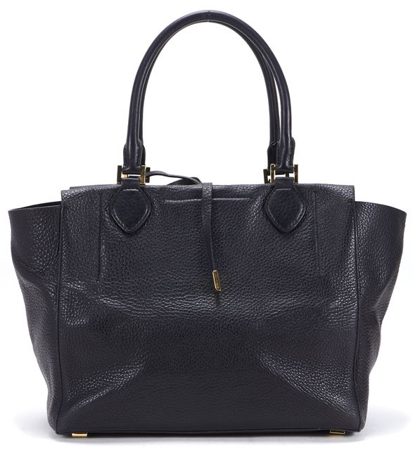 MICHAEL KORS COLLECTION Black Pebbled Leather Gold-Tone Hardware Miranda Tote