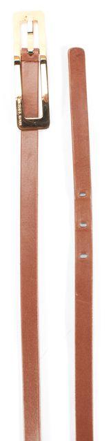 MICHAEL KORS Brown Leather Gold Hardware Belt