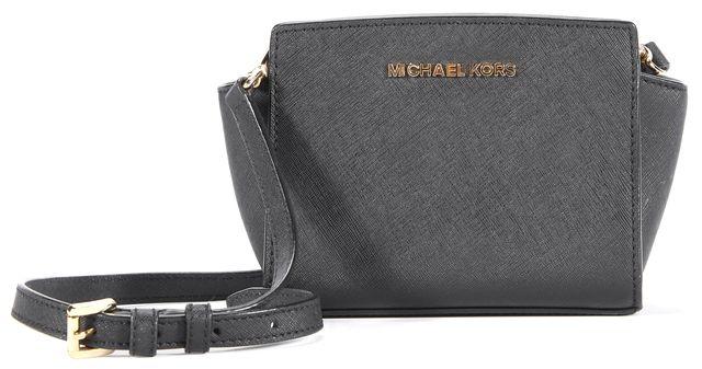 MICHAEL KORS Black Leather Crossbody Handbag