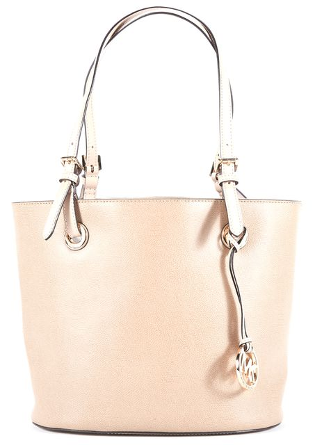 MICHAEL KORS Beige Leather Top Handle Tote Handbag