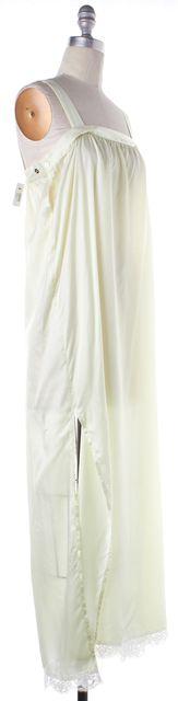 MM6 MAISON MARTIN MARGIELA Green Lace Trim Maxi Dress