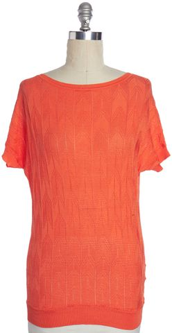 M MISSONI Orange Zig Zag Knit Top Size 4