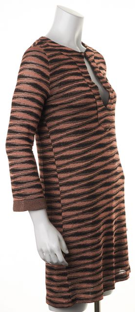 M MISSONI Pink Black Striped Sheath Dress