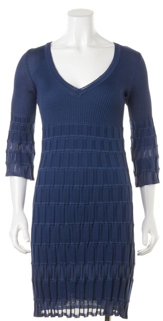 M MISSONI Blue Sheath Dress