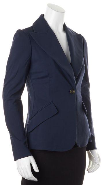 M MISSONI Navy Blue Single Button Pocket Front Blazer
