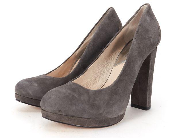 MICHAEL MICHAEL KORS Gray Suede Platform Block Heel Pumps Size 7