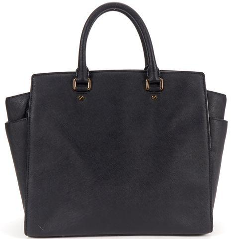 MICHAEL MICHAEL KORS Authentic Black Leather Shoulder Bag