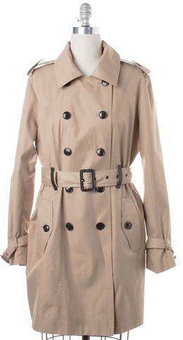 MICHAEL MICHAEL KORS Beige Double Breasted Trench Coat