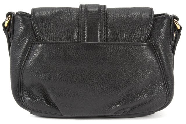 MICHAEL MICHAEL KORS Black Pebbled Leather Crossbody Shoulder Bag