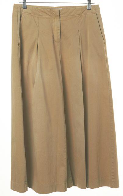 MICHAEL MICHAEL KORS Beige Pleated Cropped Wide Leg Trouser Dress Pants