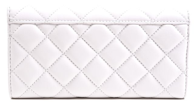MICHAEL MICHAEL KORS [brand exc] MICHAEL Optic White Silver Quilted Leather Carry All Astrid Wallet