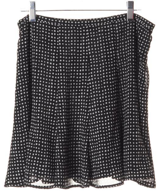 MICHAEL MICHAEL KORS Black White Abstract Plaids & Checks Pleated Skirt