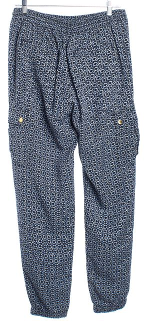 MICHAEL MICHAEL KORS Navy White Draw Waist Casual Pants
