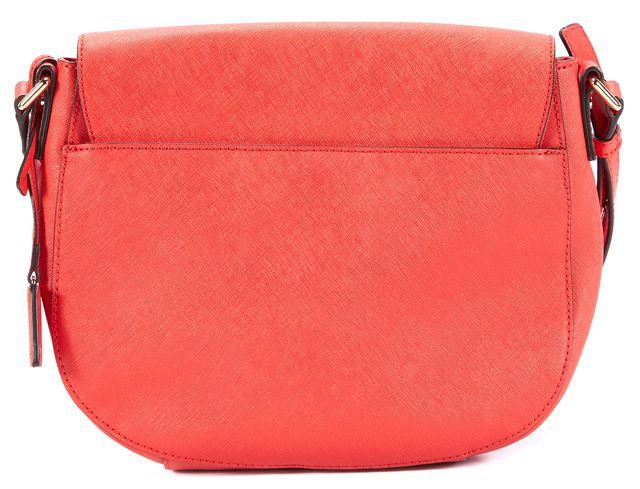 MICHAEL MICHAEL KORS Red-Orange Gold Hardware Crossbody Bag