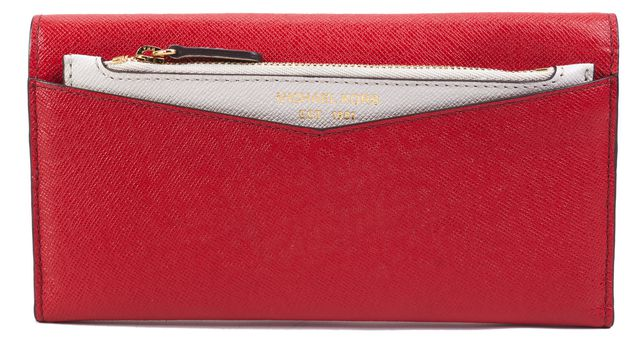 MICHAEL MICHAEL KORS Red Leather Wallet