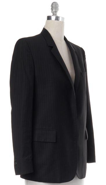 MAISON MARTIN MARGIELA Black Pinstriped Wool Two Button Blazer