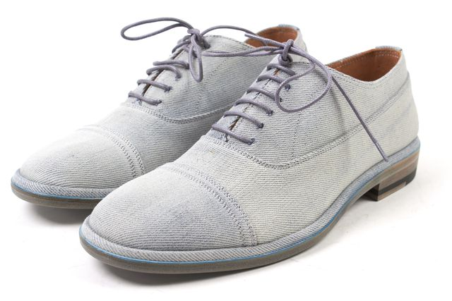 MAISON MARTIN MARGIELA Blue Denim Canvas Lace Up Oxfords