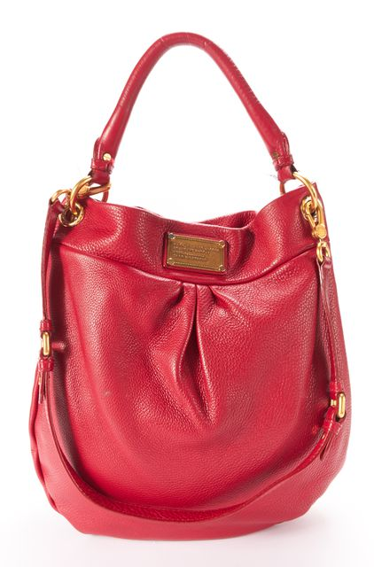 MARC BY MARC JACOBS Red Leather Classic Q Hiller Hobo Shoulder Bag