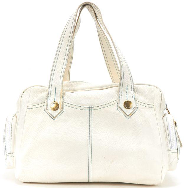 MARC BY MARC JACOBS White Leather Satchel Shoulder Handbag