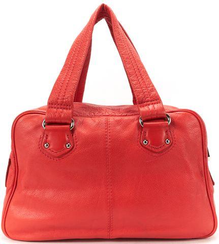 MARC BY MARC JACOBS Red Pebbled Leather Shoulder Bag