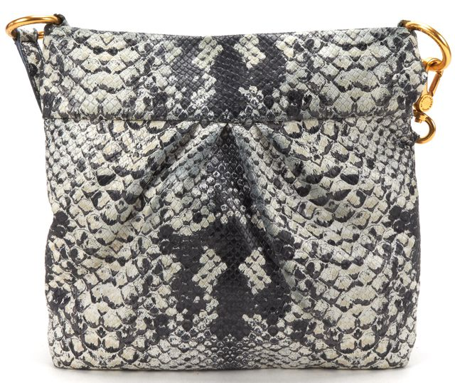 MARC BY MARC JACOBS Gray Snake Emboss PVC Crossbody Bag