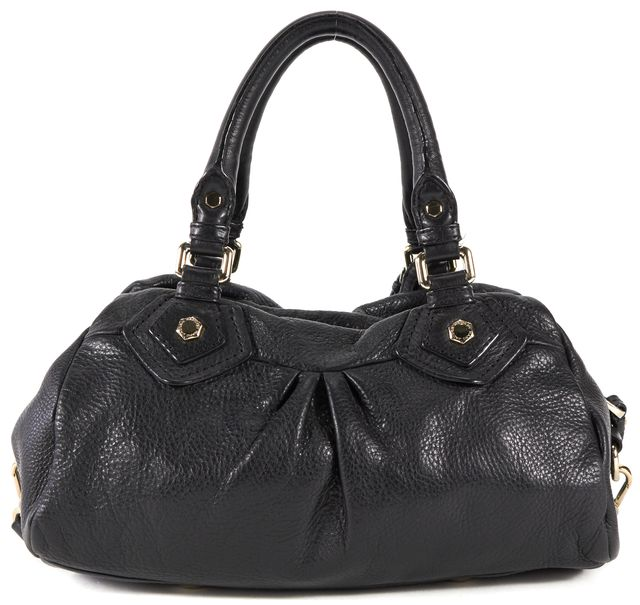 MARC BY MARC JACOBS Black Pebble Leather Classic Q Groovee Satchel Bag