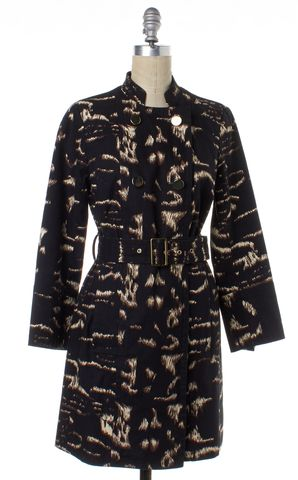 MARC BY MARC JACOBS Black Abstract Print Trench Coat With Belt