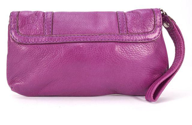MARC BY MARC JACOBS Fuchsia Purple Leather Wristlet Clutch Bag