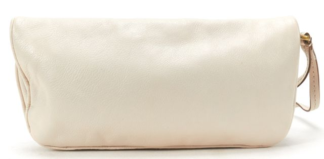 MARC BY MARC JACOBS Cream Leather Fold Over Clutch