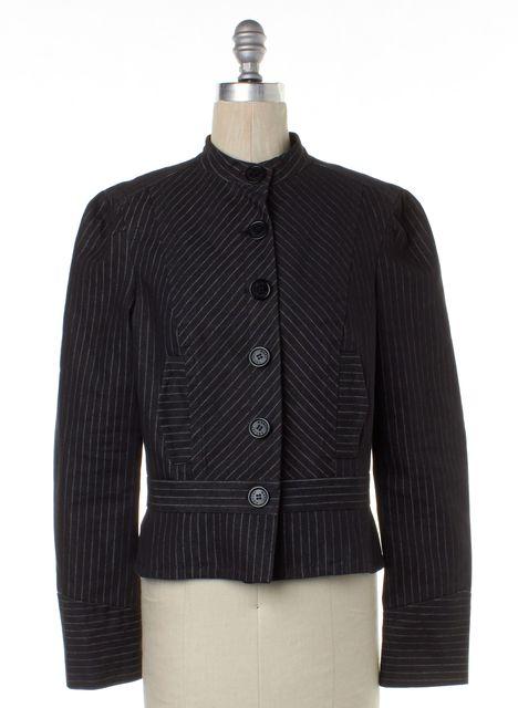 MARC BY MARC JACOBS Black White Pinstripe Basic Jacket