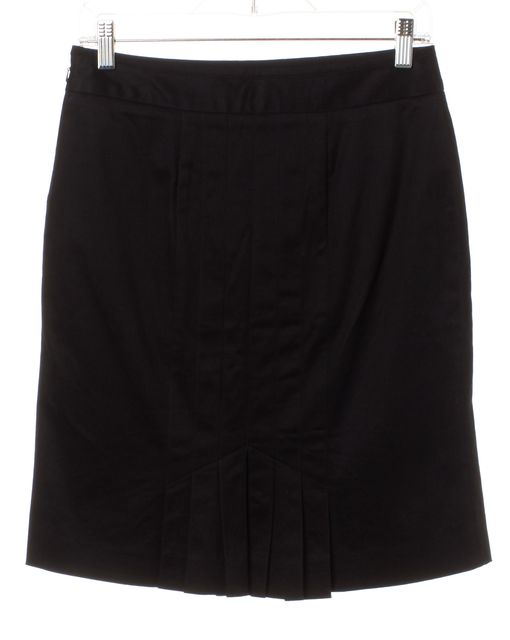 MARC BY MARC JACOBS Black Straight Pleated Detail Skirt