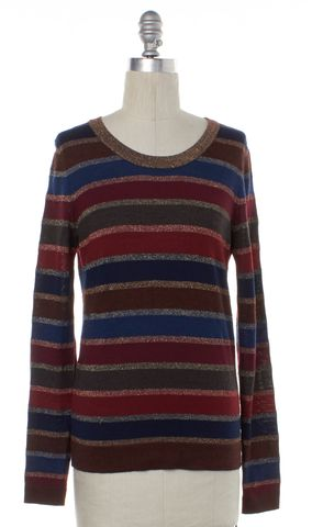 MARC BY MARC JACOBS Multi-color Metallic Striped Wool Knit Top Size S