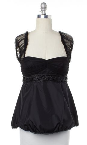 MARC BY MARC JACOBS Black Embellished Beaded Silk Top