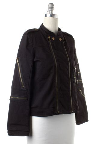 MARC BY MARC JACOBS Black Zip Up Jacket