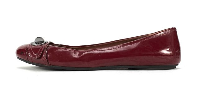 MARC BY MARC JACOBS Red Patent Leather Totally Turnlock Ballet Flats