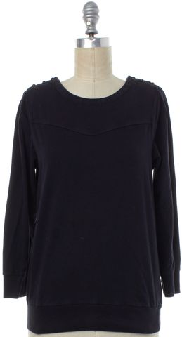 MARC BY MARC JACOBS Black Buttoned Shoulder Detail Long Sleeve Top