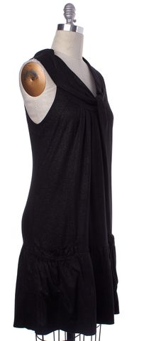 MARC BY MARC JACOBS Gray Ruffled Sleeveless Shift Dress