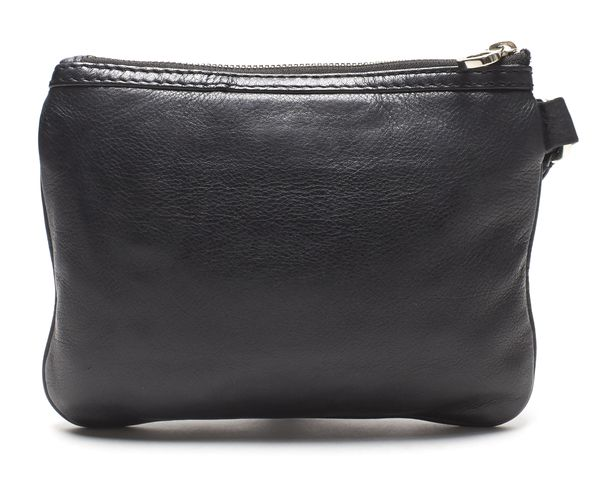 MARC BY MARC JACOBS Authentic Black Leather Totally Turnlock Wristlet Clutch