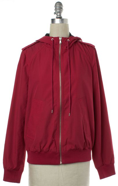 MARC BY MARC JACOBS Red Zip Up Hooded Jacket
